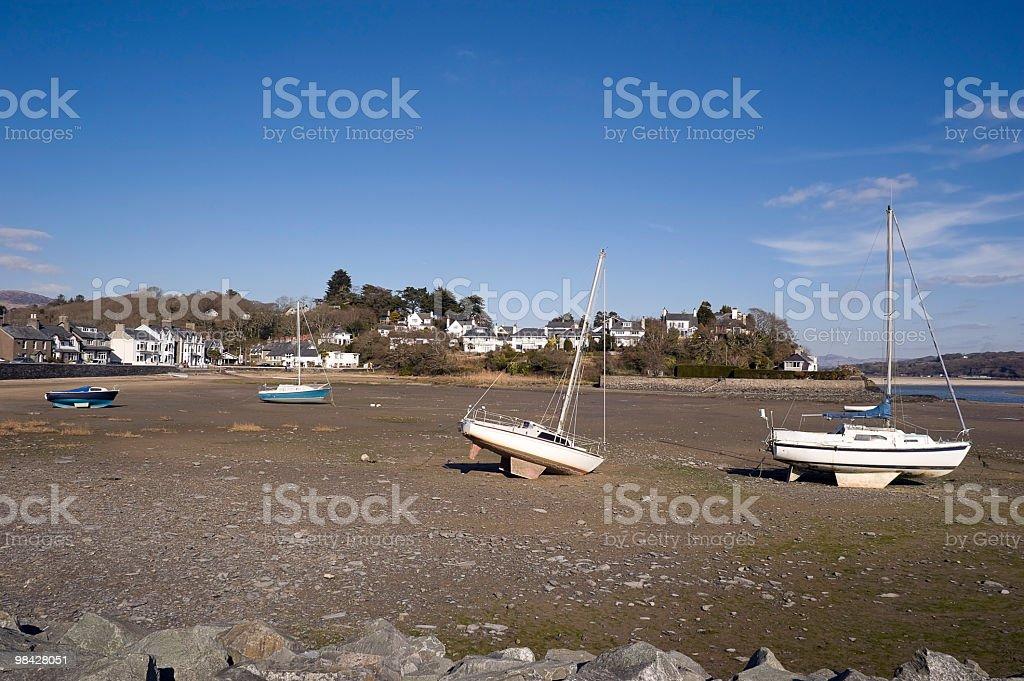 Bellissimo estuario in Pothmadog, Galles del Nord foto stock royalty-free