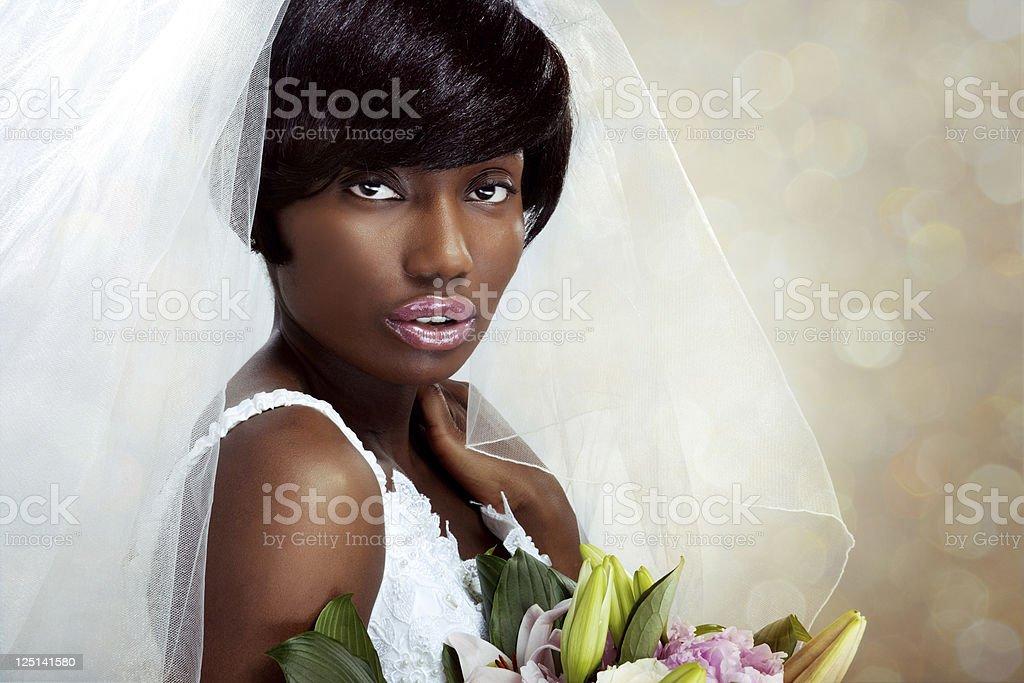 Beautiful Ethnic Bride stock photo