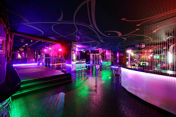 beautiful european night club interior colorful interior of bright and beautiful night club nightclub stock pictures, royalty-free photos & images
