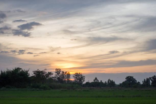 beautiful Evening sky background stock photo