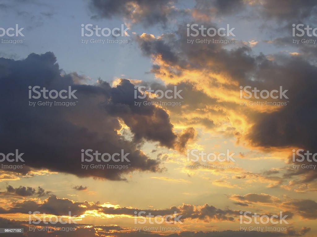 beautiful evening sky royalty-free stock photo