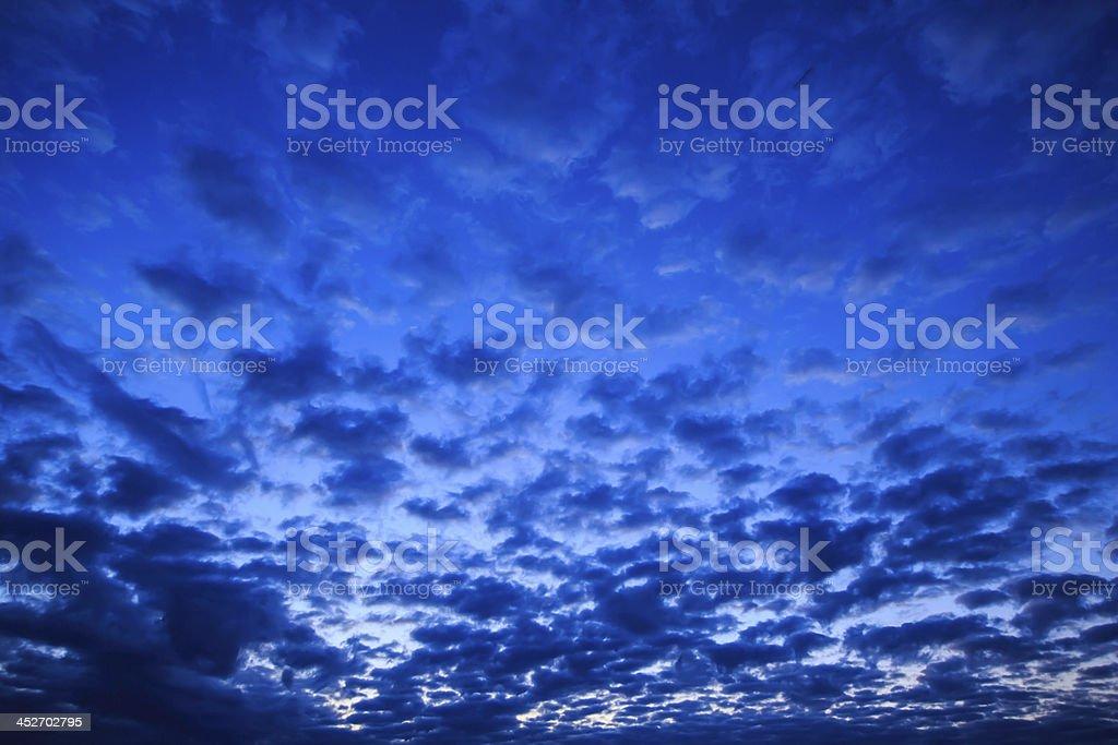 beautiful evening sunset royalty-free stock photo