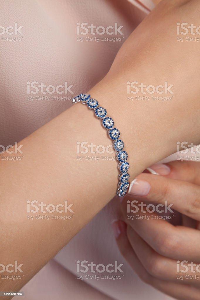 Schöne Evil Eye Diamant Armband Fotografie - Lizenzfrei Accessoires Stock-Foto