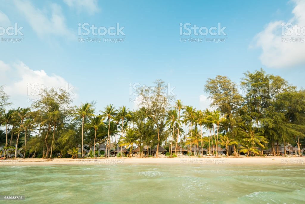Beautiful exotic beach and very nice beach for relaxation ロイヤリティフリーストックフォト