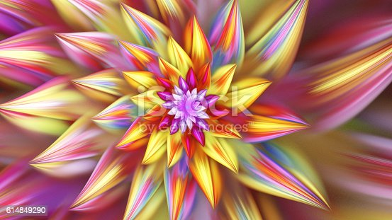 istock Beautiful exotic flower. 614849290