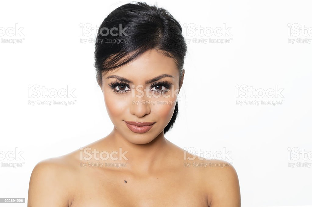 Beautiful exotic young woman's face - Photo