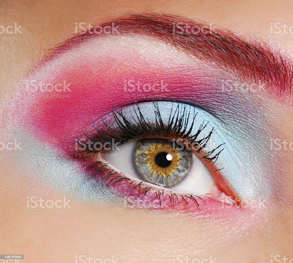Beautiful eye make-up royalty-free stock photo