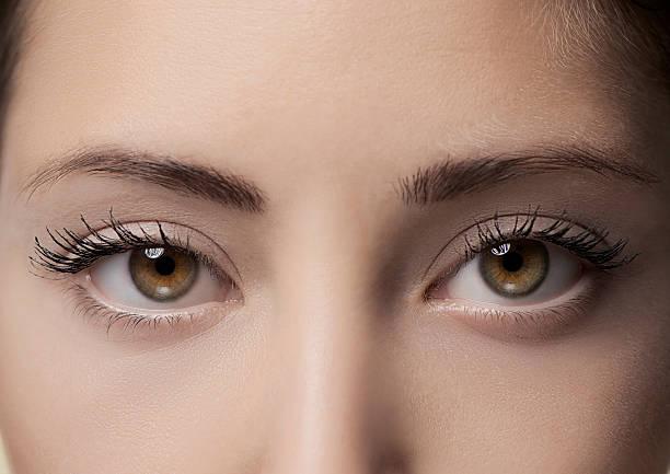 Beautiful eyes, close up stock photo