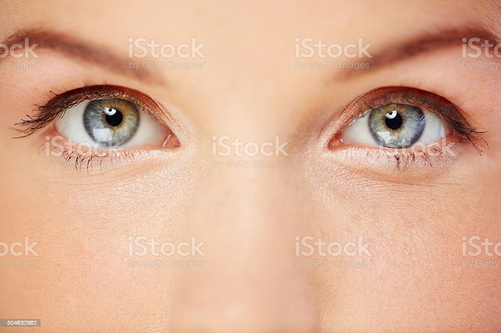 Beautiful eyes stock photo