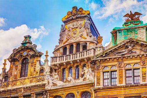 beautiful facade Grand Place Brussels Belgium