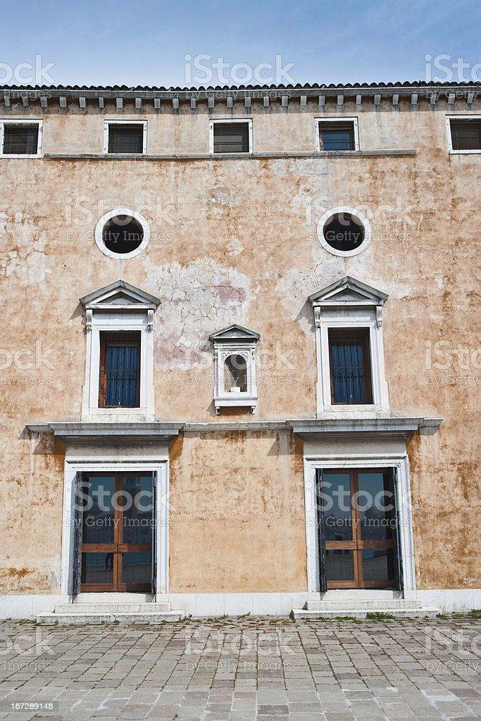 Beautiful facade in Venice. royalty-free stock photo