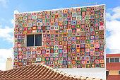 Decorated facade of the house in Puerto De La Cruz, Tenerife Island, Spain