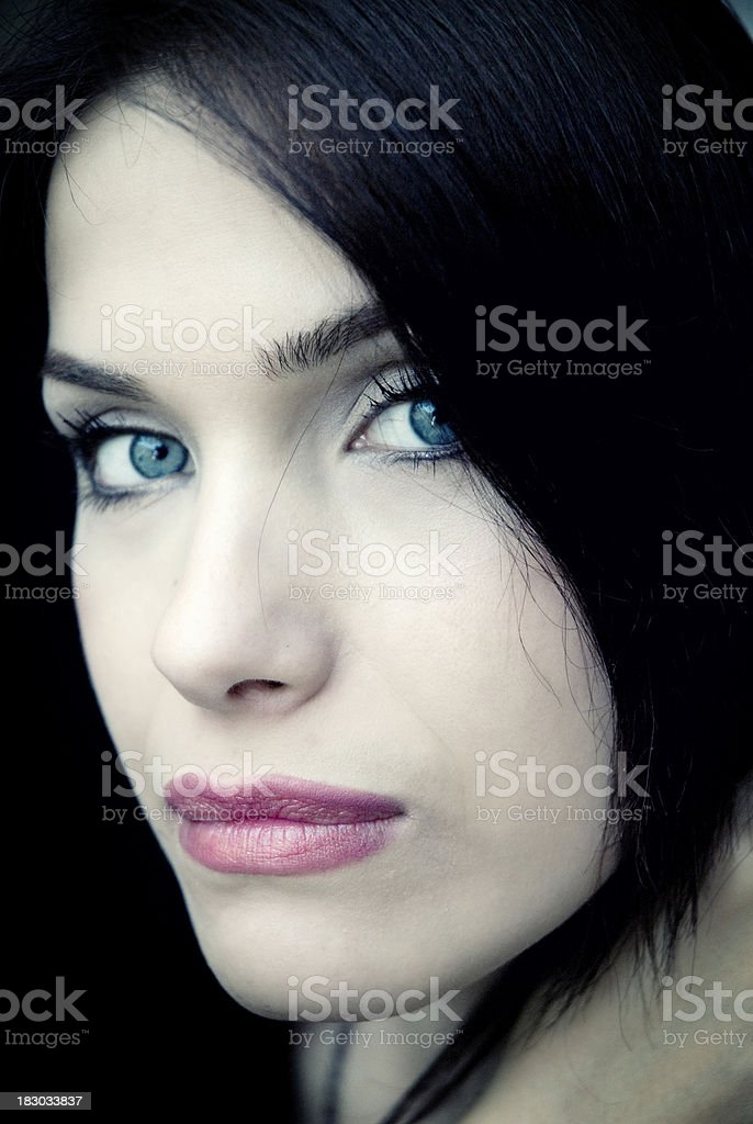 Beautiful face of woman royalty-free stock photo