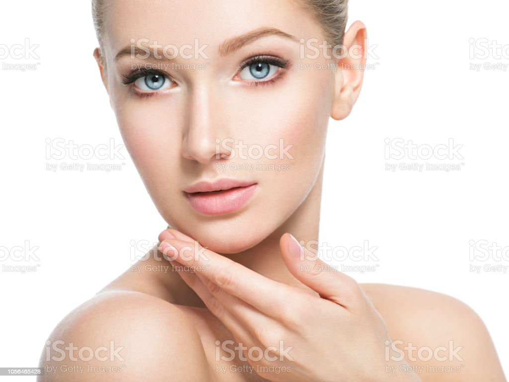 Beautiful Face Of Young Woman With Perfect Health Skin Stock Photo Download Image Now Istock