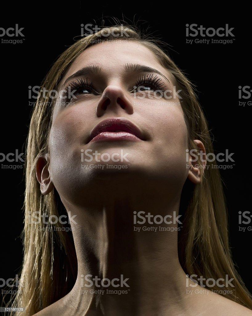 Beautiful face stock photo