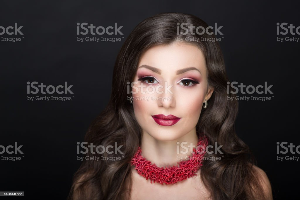 beautiful face woman stock photo