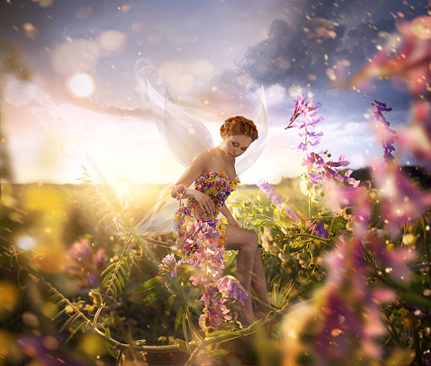 beautiful fairy - fairy wand stock photos and pictures