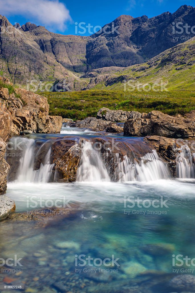 Beautiful Fairy Pools, Isle of Skye stock photo