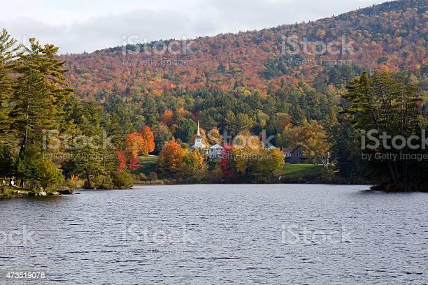 Photo of Beautiful fall colors at Long Lake, Adirondacks, New York, USA