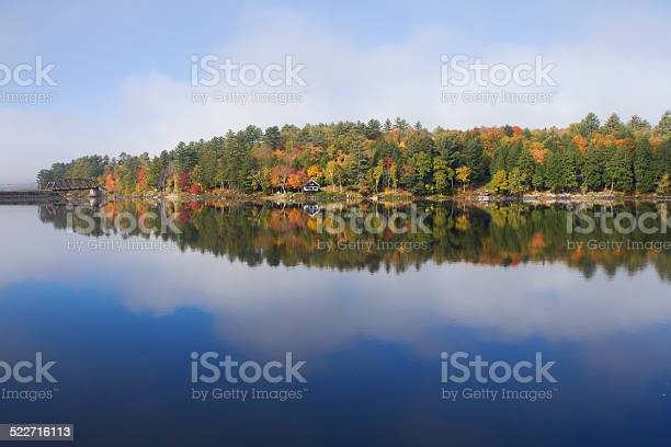 Photo of Beautiful fall colors at Long Lake, Adirondacks, USA
