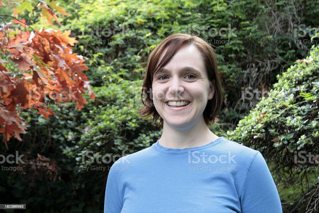 Beautiful Fall Smile royalty-free stock photo