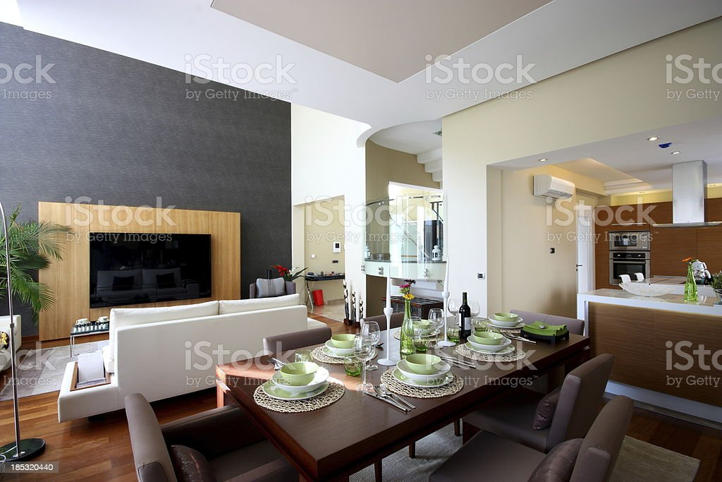 Beautiful family lounge stock photo