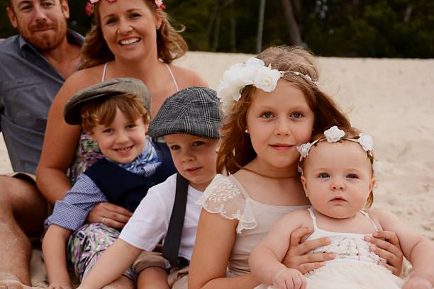 Beautiful family stock photo