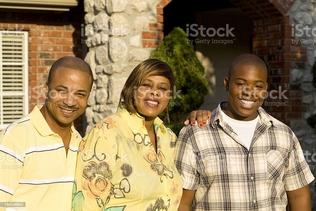 Beautiful Family Portrait royalty-free stock photo