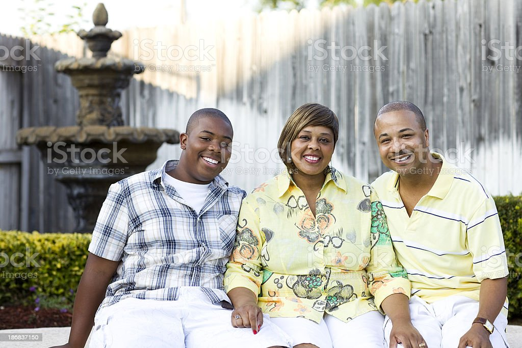 Beautiful Family Portrait stock photo