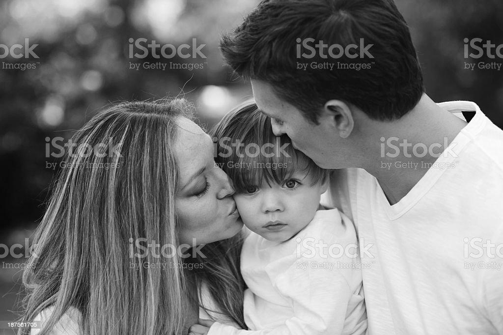 Beautiful Family Posing for Photo royalty-free stock photo