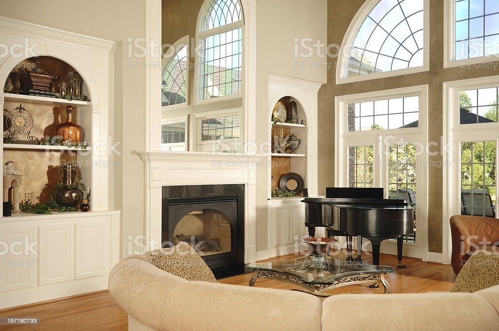 Beautiful Family Room royalty-free stock photo