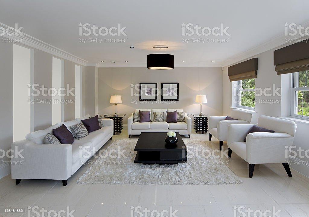 beautiful family room stock photo