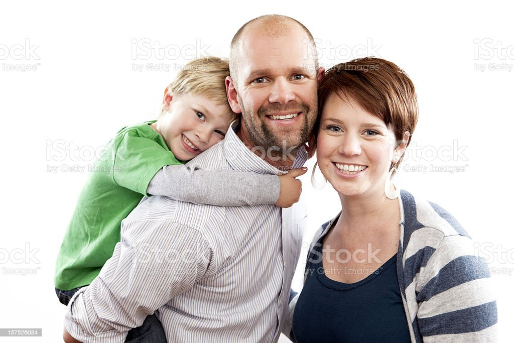 Beautiful Family Smiling royalty-free stock photo