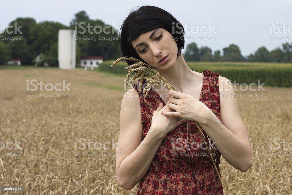Beautiful Farm Girl royalty-free stock photo