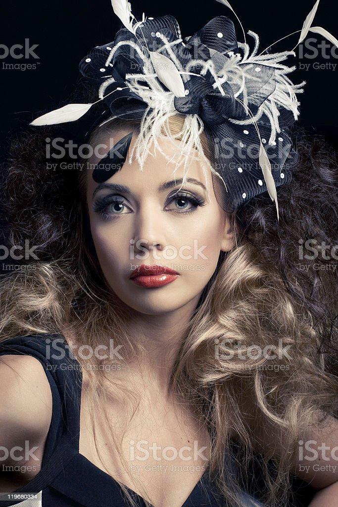 Beautiful Fashion Model Classic Retro Style Look Stock Photo   More ... c82ced356f81
