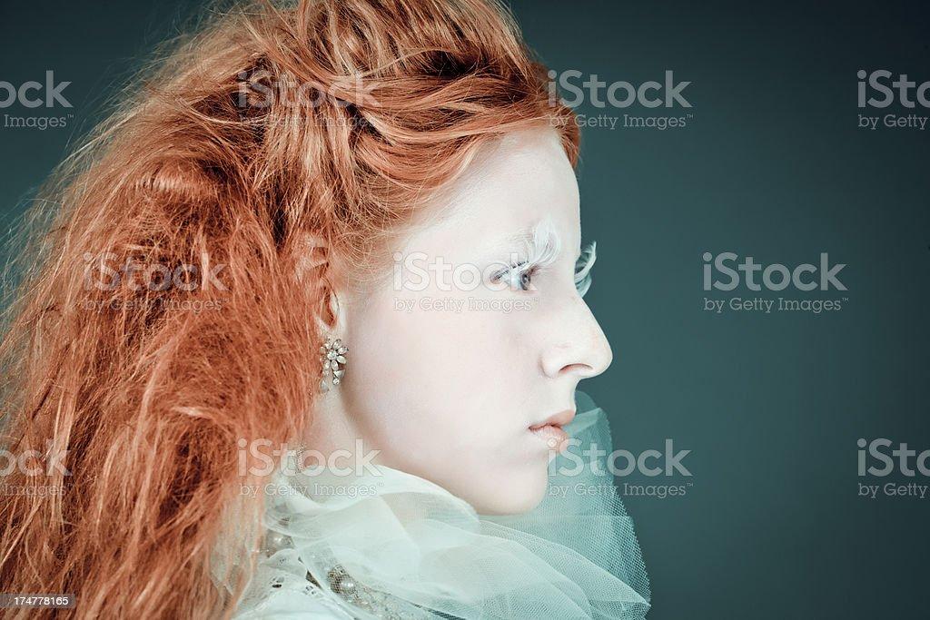 Beautiful Fashion Model In Victorian White Dress Stock Photo   More ... 82e5df4fa278