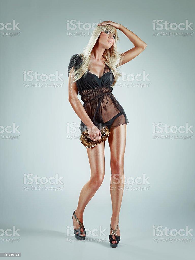 beautiful fashion model stock photo