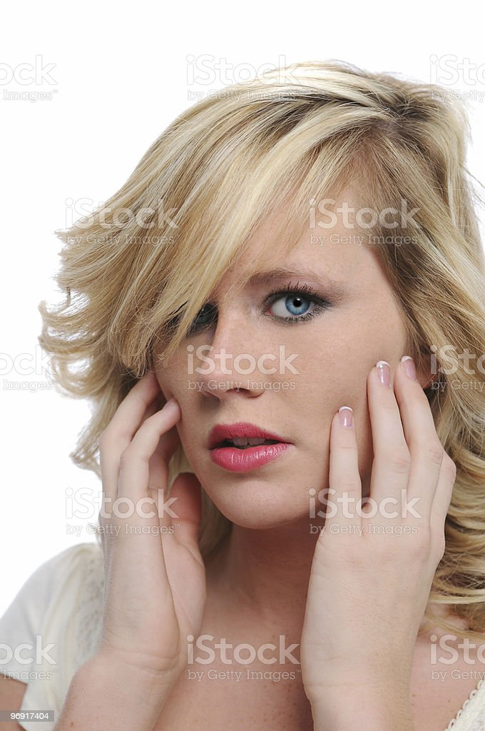 Beautiful fashion model royalty-free stock photo