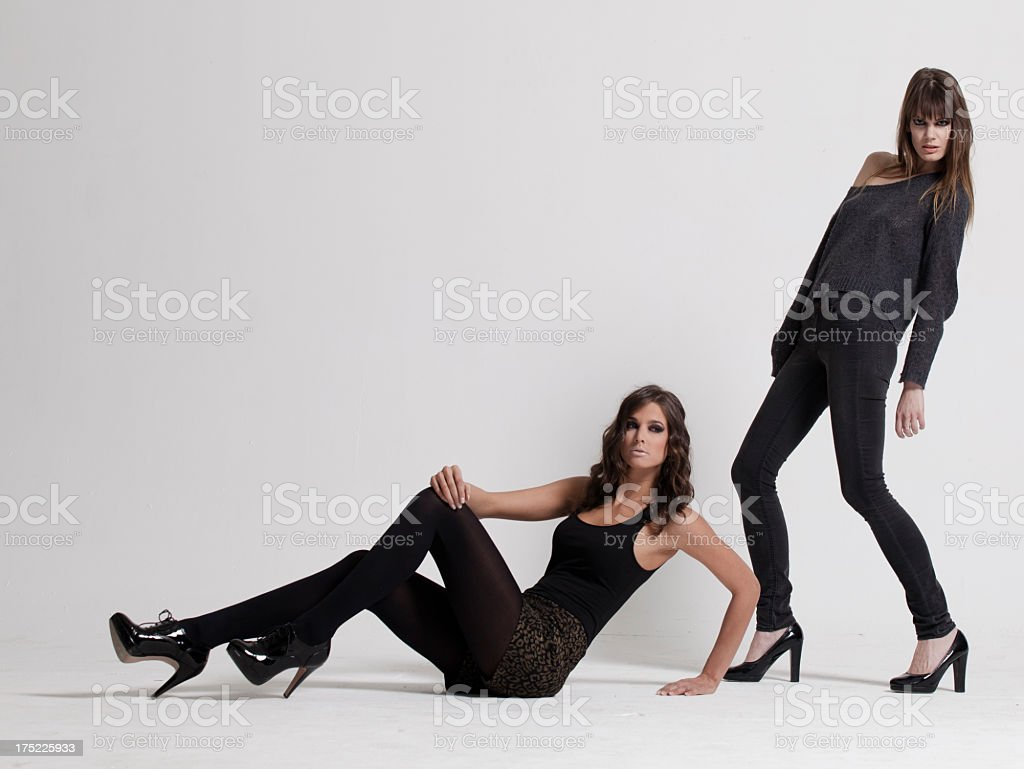 Beautiful fashion models royalty-free stock photo