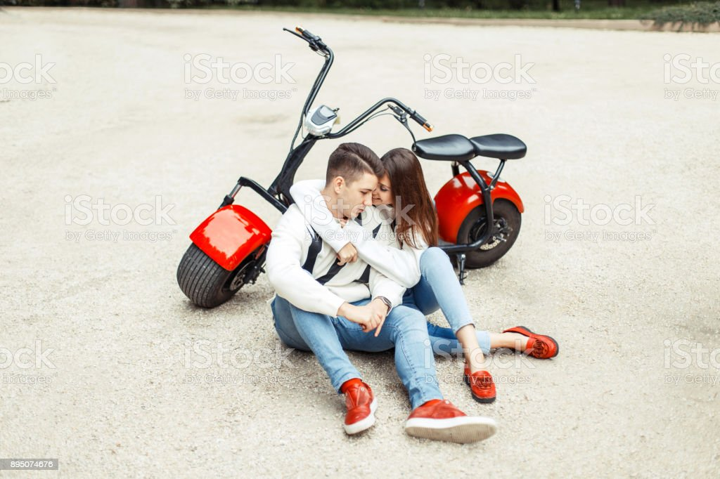Beautiful Fashionable Couple In Stylish Denim Casual Clothes
