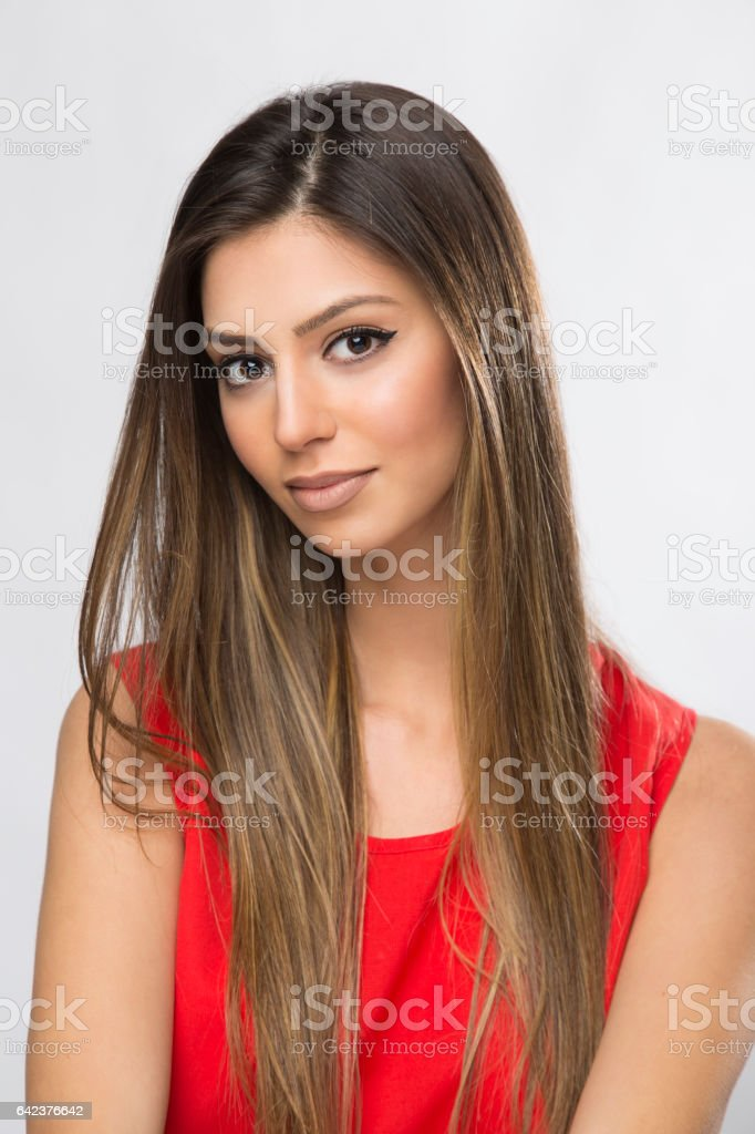 Beautiful Features stock photo