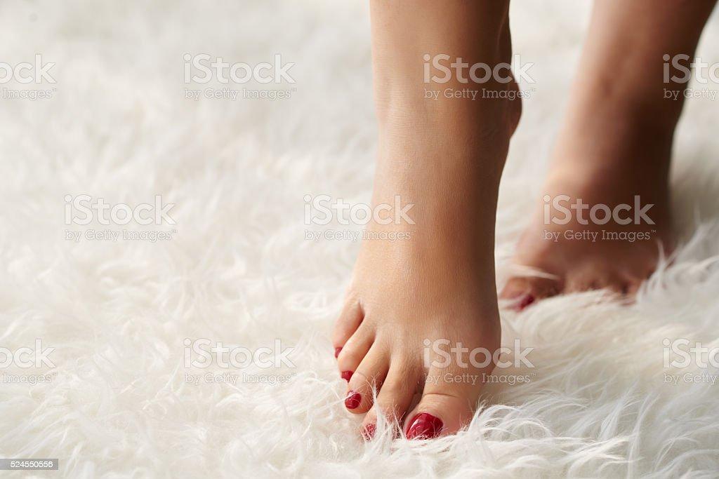 Beautiful feet stock photo