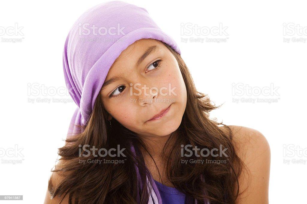 Beautiful female child royalty-free stock photo
