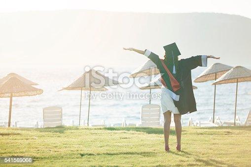 istock Beautiful Female College Graduate 541569066