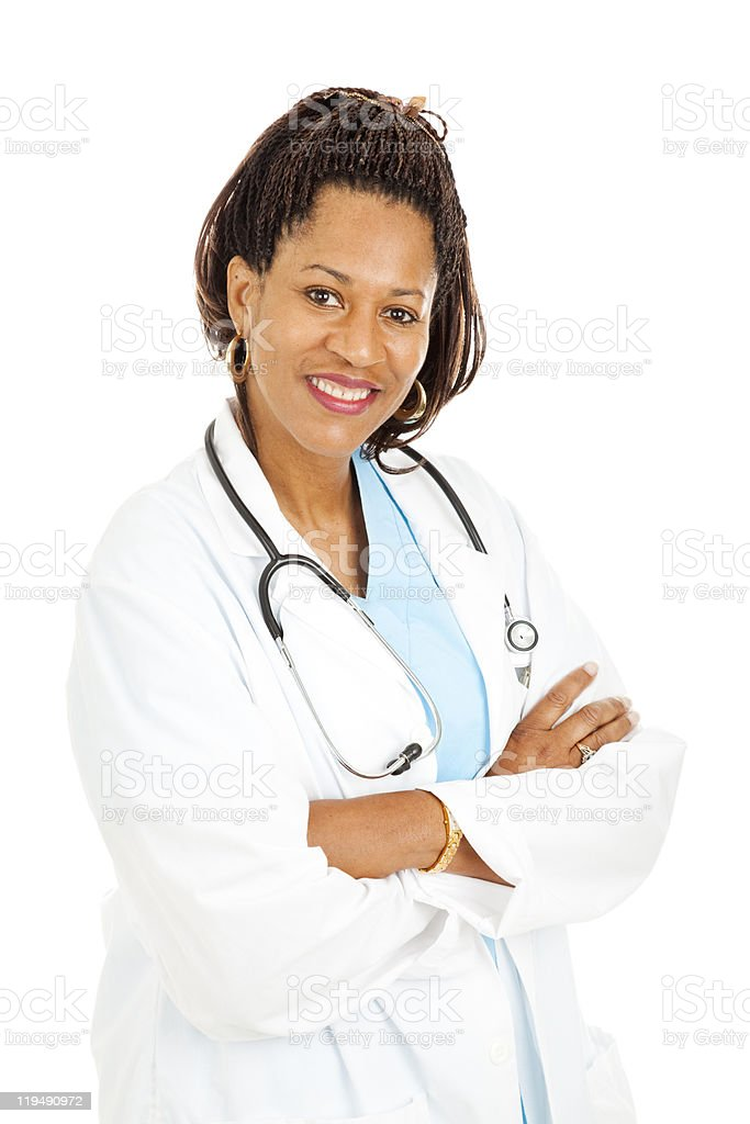 Beautiful Female Doctor stock photo