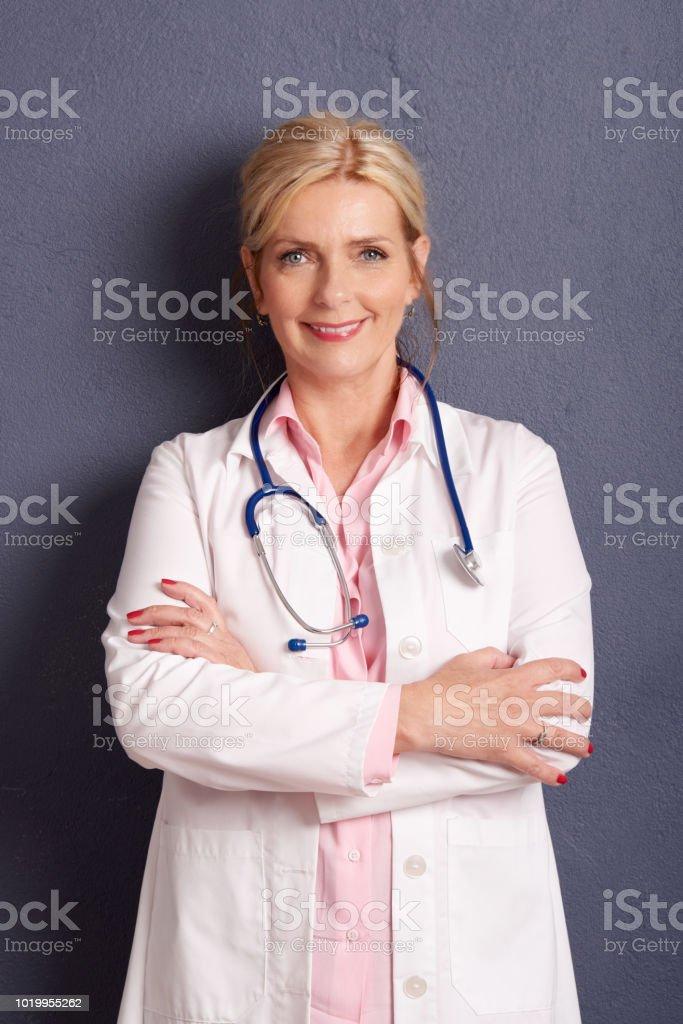 portrait de la Belle femme médecin - Photo
