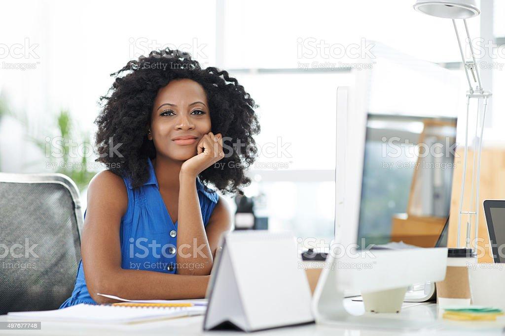 Beautiful female entrepreneur stock photo