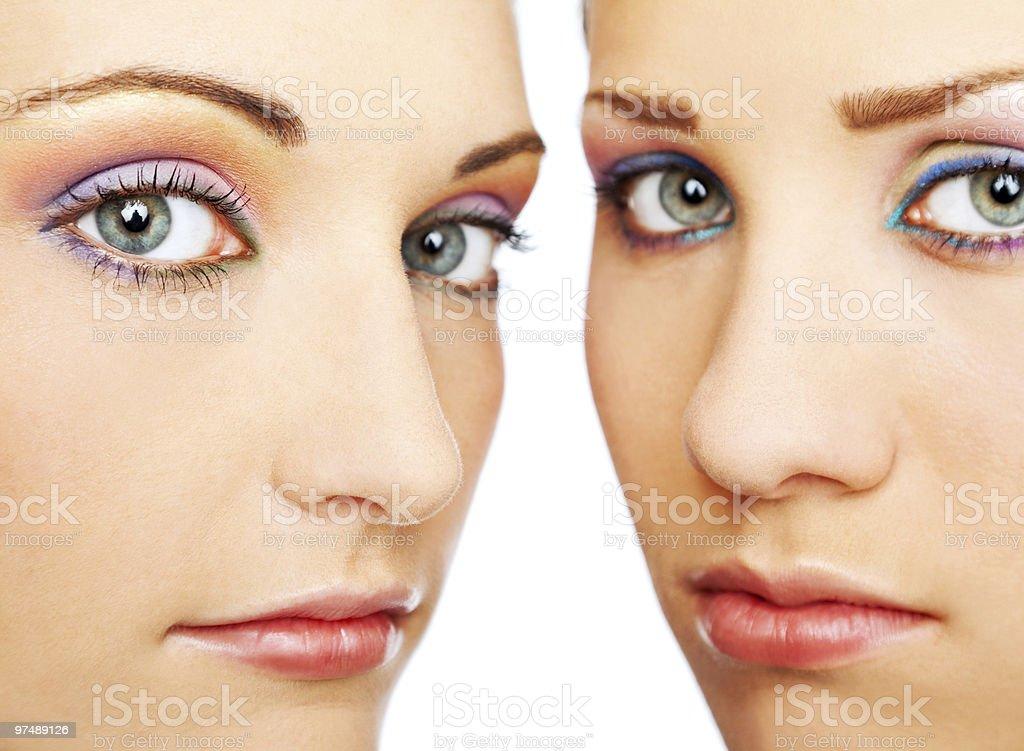 beautiful female faces royalty-free stock photo