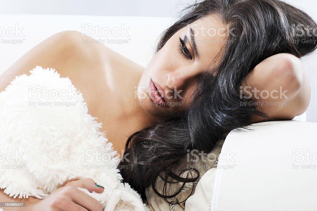Beautiful female fashion model. royalty-free stock photo