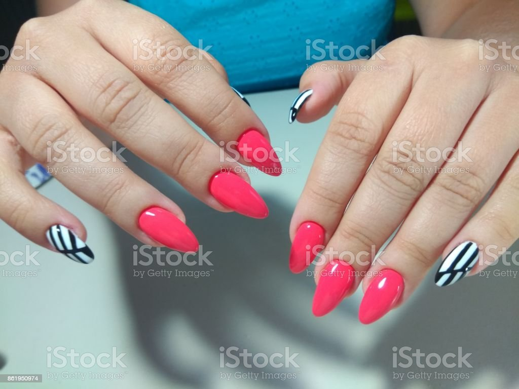 Beautiful Female Hands With Colorful Nails Nail Stock Photo Download Image Now Istock